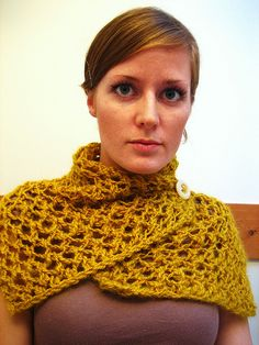 Mustard Scarf by Jane Richmond - #free Ravelry download!