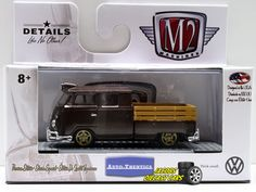 1:64  M2 MACHINES AUTO-THENTICS VW04 - 1961 VW DOUBLE CAB TRUCK USA MODEL #M2Machines #Volkswagen