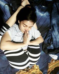 @ciciaallexsa_yoga_sport amazing #yoganidrasana #feetbehindhead #legsbehindhead #bendyyogis #flexibility by yogawannabee