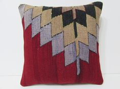 throw pillow cover 18x18 sofa cushion kilim by DECOLICKILIMPILLOWS