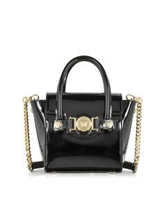 24647a1e5f27 Versace Black Patent Leather Signature Mini Bag