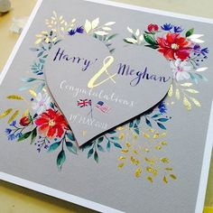 Couldn't resist a #regram from @greetingsbyling with such a beautiful card for the Royal Wedding. We hope they like it!!!