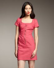 Phoebe Couture short-sleeve zip front dress