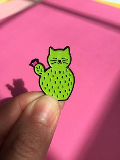 CaTcus - soft enamel pin by HibouDesigns - Cactus Cat pin, catcus pin, cute cat pin, cacti lover pin, cat lover pin