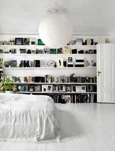 White graphic interior of Danish artist Tenka Gammelgaard's