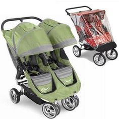 Baby Jogger 87174RAIN City Mini Double - Green-Gray w Rain Canopy - http://babystrollers.everythingreviews.net/4264/baby-jogger-87174rain-city-mini-double-green-gray-w-rain-canopy.html