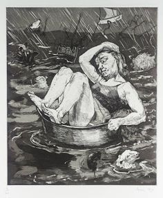 Paula Rego Flood 1996 etching and aquatint on paper 395x335mm