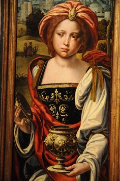 Mary Magdalen (Triptych); Pieter Coecke van Aelst; 16th century; Oil on panel; Fine Arts Museums of San Francisco
