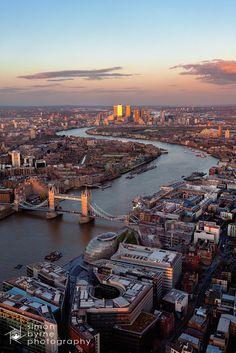 Tower Bridge & Canary Wharf, London