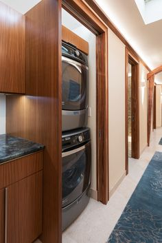 Door Open On Laundry With Usable Well Lit Open Storage Space