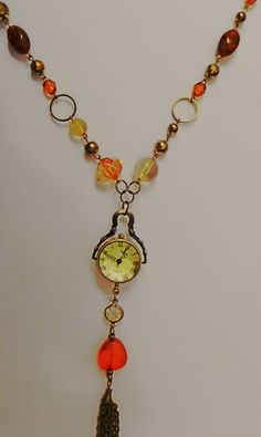 Antique bronze Quirky upcycled pendant watch £25.00