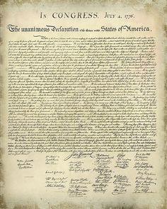 Declaration of Independence Printable Version | Free Printable United States Declaration of Independence