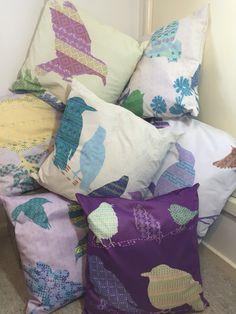 Shetland starling cushions