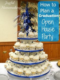 At this time last year, I was in serious planning, purchasing and preparing mode for my oldest son's high school graduation open house party. I had some experience under my belt from the previous years wedding anniversary surprise open. Graduation Party Themes, Graduation Celebration, Graduation Decorations, Graduation Day, Grad Parties, Birthday Parties, Graduation Cupcakes, Graduation Quotes, 50th Party