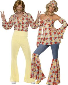 Disco costumes for couple : vegaoo adults costumes halloween 90s Fashion Overalls, 70s Fashion, Fashion Outfits, Hippie Fashion, Rave Outfits, Cool Costumes, Adult Costumes, 1970s Costumes, Moda Disco