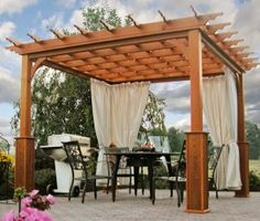 These free pergola plans will help you build that much needed structure in your backyard to give you shade, cover your hot tub, or simply define an outdoor space into something special. Building a pergola can be a simple to… Continue Reading → Free Pergola Plans, Diy Pergola Kits, Patio Pergola, Metal Pergola, Pergola Designs, Backyard Landscaping, Deck Gazebo, Diy Deck, Pergola Ideas