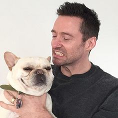 When he delivered this sly smile. | Community Post: 23 Times Hugh Jackman's Dog Was Unbearably Cute