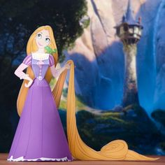 3D Rapunzel Papercraft #disney #paper #crafts