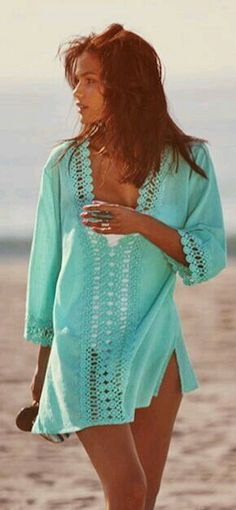 2d5abfcb43 Lace Front Beach Cover Up Summer Beach Kimono Tunic Swimsuit Cover Up  Crochet Front Bikini Cover Resort Wear Cruise Wear