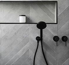 Phoenix Tapware Vivid Hand Shower & Vivid Slimline Shower Wall Mixer | matte black taps | bathroom inspiration