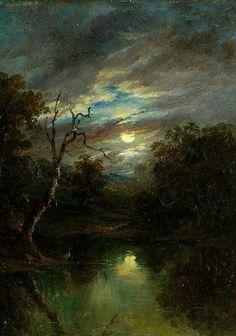 Moonlit Landscape - John Moore