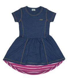 Look at this Blue & Purple Stripe Dress - Toddler & Girls on #zulily today!