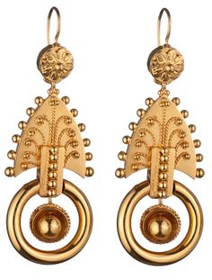 Victorian Gold Earrings ~ Oh, beautiful!  : )