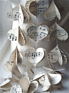 So you! Bring a little extra music into the wedding decorations, also super good for the budget since these can be made by you and some unwilling volunteers. Extra: music for the first dance or other song important to your relationship?