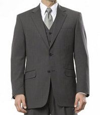 Joseph 2-Button Wool Three Piece Suit with Vest and Pleated Trousers- Sizes 44 X-Long-52
