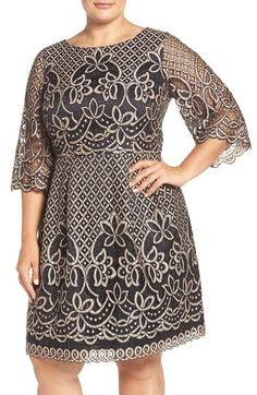Eliza J Lace Fit & Flare Dress (Plus Size) available at #Nordstrom
