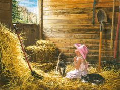 Dear God Its Me Jigsaw Puzzle, Religious & Inspirational: Vermont Christmas Company Living Room Sets, Rugs In Living Room, Room Rugs, Country Art, Country Living, Country Life, Barn Living, Country Style, Country Roads