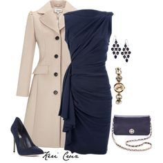 Dressy office outfit, created by keri-cruz on Polyvore