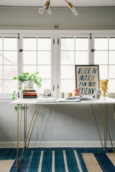 Standing desk. I think I need a space like this in the kitchen. For my planner and to do list.