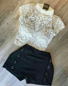 ✯ Find more clothing moda, sporty outfits and fitness clothing, red dresses and outfits for teens. And more cheap engagement rings, sophia makeup store and summer outfits women. Mode Outfits, Girly Outfits, Short Outfits, Outfits For Teens, Trendy Outfits, Dress Outfits, Summer Outfits, Fashion Dresses, Grunge Outfits