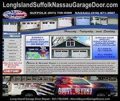 Custom Garage Doors, Garage Door Repair, Garage Door Opener, Liftmaster Garage Door, Commercial Garage Doors, Port Jefferson, Nassau County, Long Island Ny, Above And Beyond