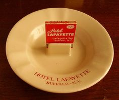 Hotel Lafayette Ashtray by Buffalo China by straubted, via Flickr