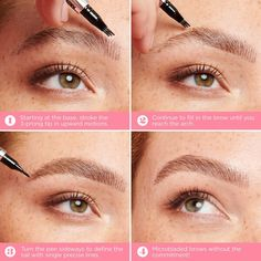Crayon sourcils microcomblant - Benefit Cosmetics | Sephora Make Beauty, Beauty Stuff, Beauty Hacks, Benefit Cosmetics, Sephora, Full Brows, Pvp, How To Draw Hair, Eyebrows