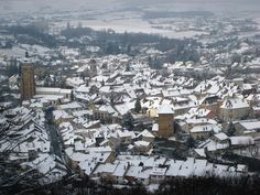 Arbois in snow, viewed from l'Hermitage viewpoint ©Wink Lorch Wines, Snow, Places, Travel, Outdoor, Outdoors, Lugares, Trips, Viajes