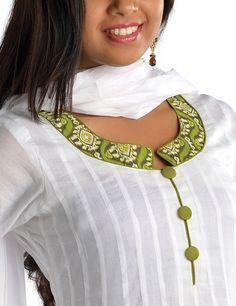 Salwar Neck Designs With Piping Anarkali salwar suit-