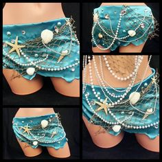 Mermaid Skirt Rave Bra Rave Outfit EDC by PasseCostumeDesigns