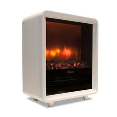 White Electric Fireplace Heater - Awesome a Mini fireplace!