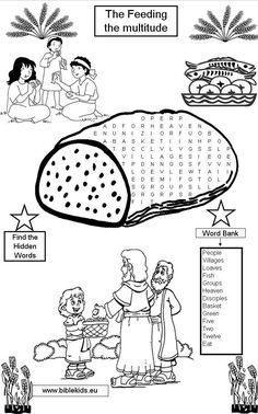Fill in Picture of Loaves and Fishes (Coloring Activity
