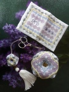 There is a particular kind of garden that is planted with flowers and plants meant to attract butterflies. In that garden, the butterflies become almost like moving flowers in their own right and add to the beauty of what has been planted. I wanted to bring that idea to life with thread and fabric (and, of course, beads!)