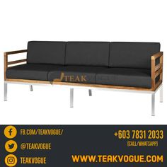 Vancouver 3 Seater Sofa - Quality Modern Outdoor Sofa set shop in Shah Alam, Petaling Jaya, PJ and Kuala Lumpur, kl Malaysia Modern Outdoor Sofas, Outdoor Sofa Sets, Modern Sofa, Wicker Furniture, Garden Furniture, Furniture Design, Outdoor Furniture, Outdoor Decor, Poolside Furniture