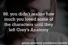 Grey's Anatomy Problems  Like George...and Mark....and Lexie :(