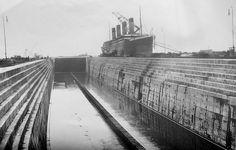 Titanic will soon head to the dry dock where they will work on the interior. - Titanic onedlho zamieri do suchého doku, kde sa bude pracovať na jeho interiéri. Rms Titanic, Titanic Deaths, Titanic Ship, Titanic History, Southampton, Belfast, Liverpool, Titanic Underwater, Costa