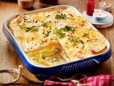 Steckrüben-Lasagne mit Porree-Rahm und Kasseler Rezept | LECKER