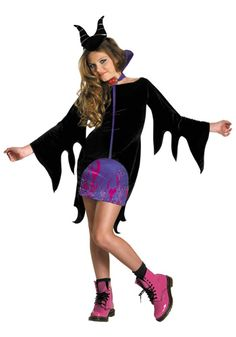 Tween Maleficent costume #Teen #Halloween #SleepingBeauty #Disney