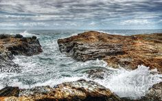 ROCKS OCEAN AND CLOUDS -   Prints & Greeting Cards available at:  http://kaye-menner.artistwebsites.com/featured/rocks-ocean-and-clouds-kaye-menner.html  -