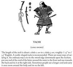 Tachi (long sword), page 22.